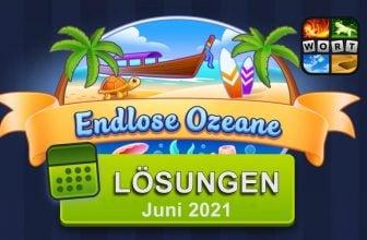 4 Bilder 1 Wort Juni 2021 - Endlose Ozeane Lösungen