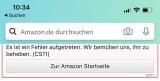 Amazon CS11 Fehler beheben in der App
