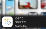 """iOS 15 Update """"Angehalten"""". Was bedeutet das?"""